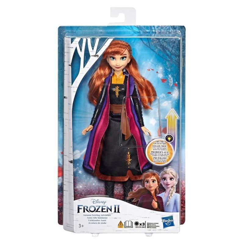 Frozen 2 Frost 2, Docka med lysande kläder Anna